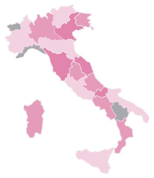 Carte des vins d'Italie