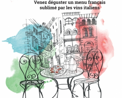 14/06/2018 : Soirée Accord mets et vins franco-italienne, « Au bistronome », Nancy (54000)